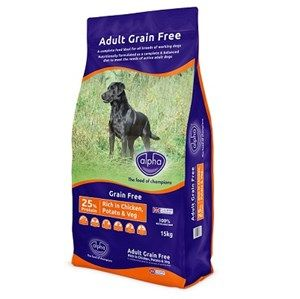 Alpha - Adult Grain Free  - Chicken Dog Food  - 15kg
