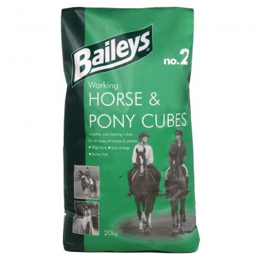 Baileys - No 2 - Working Horse & Pony Cubes - Nuts - 20kg