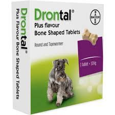 Drontal Plus - Tasty Bone  - Dog Worming Tablet - Pack of 2 tablets