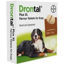 Drontal XL -  2 Tablet Pack  - Dog Worming Tablets