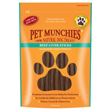 Pet Munchies - Dog Treats -  Beef Liver Sticks - 90gm