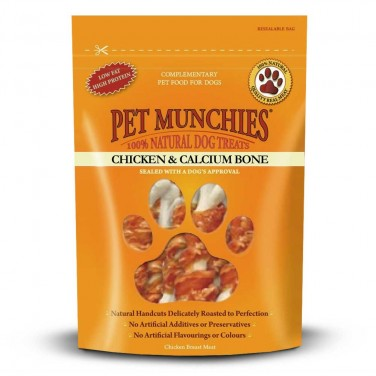 Pet Munchies - Dog Treats Chicken & Calcium Bones 100gm