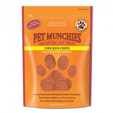 Pet Munchies - Dog Treats Chicken Chips 100gm