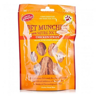 Pet Munchies - Dog Treats Chicken Strips 100gm