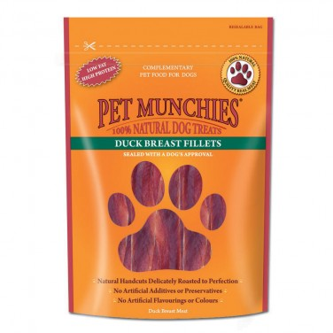 Pet Munchies - Dog Treats Duck Breast Fillets 100gm