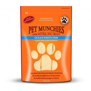 Pet Munchies  - Dog Treats  - Ocean White Fish 100gm