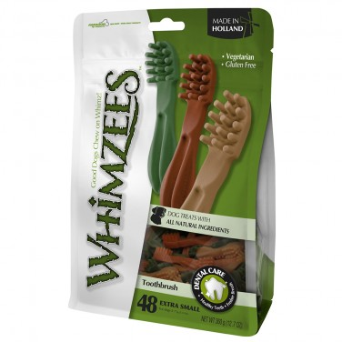 Whimzees - Extra Small Toothbrushes-  70mm pack of 48